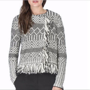 Anthropologie Leo & Sage Moto-Style Sweater/Jacket